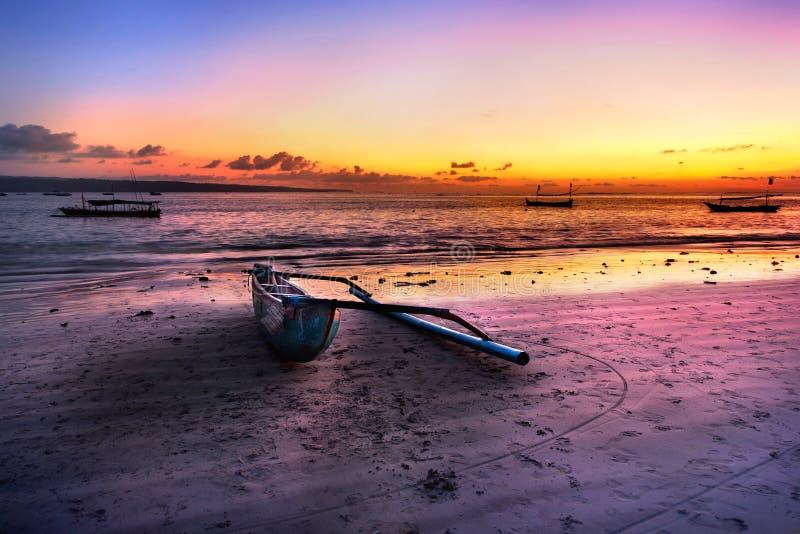 plażowa łódź fotografia royalty free