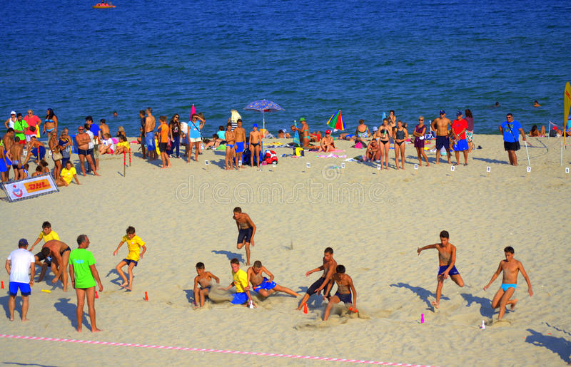 Plażowa biegowa finał bitwa zdjęcia stock