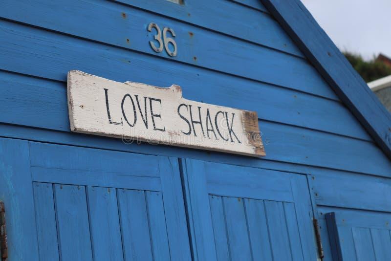 Plażowa budy miłości chałupa liczba 36 obrazy royalty free