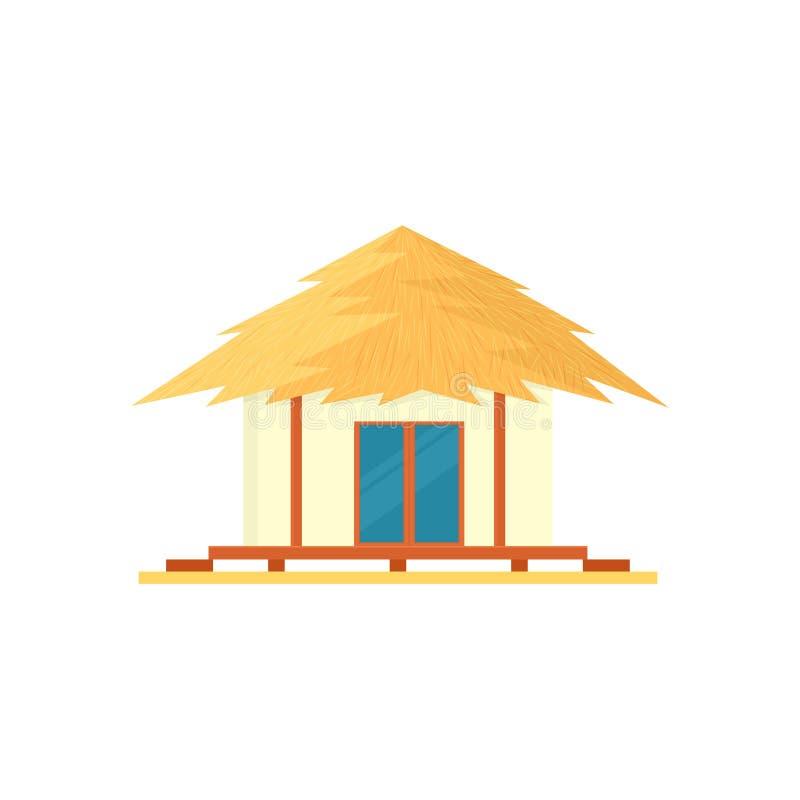 Plażowa bungalow ikona royalty ilustracja