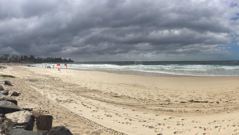 Plażowa burza zdjęcie stock