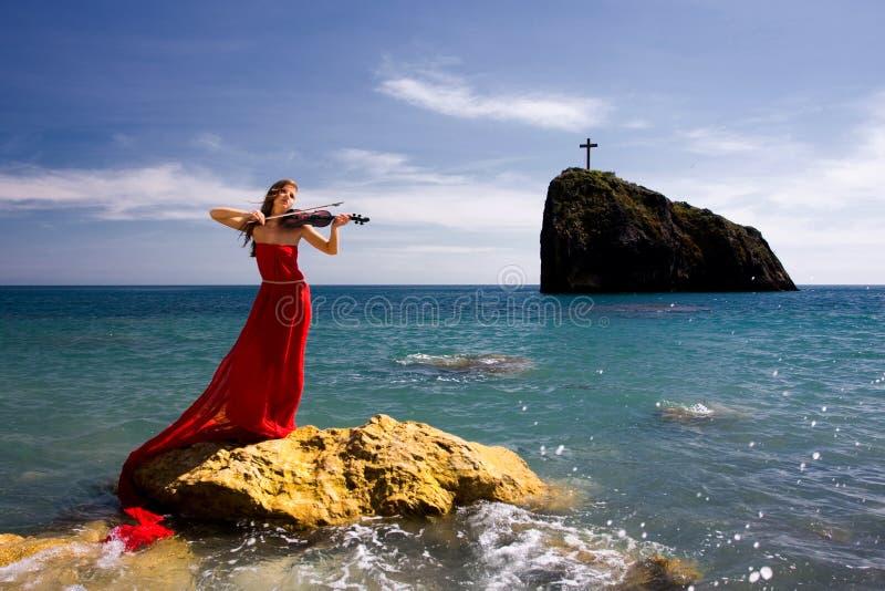 plażowa denna kobieta obraz royalty free