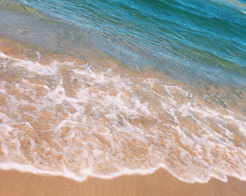 plażowa dzień dziewczyny mała przyglądająca woda fotografia stock