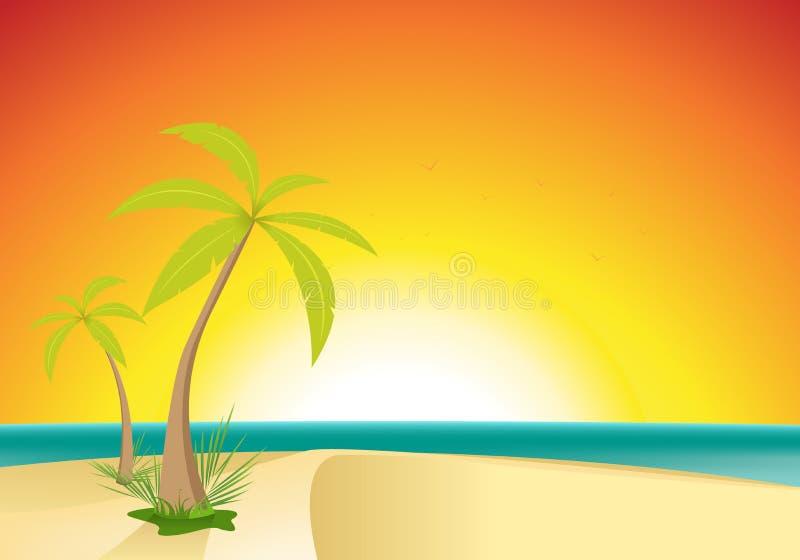 plażowa egzotyczna pocztówka ilustracja wektor