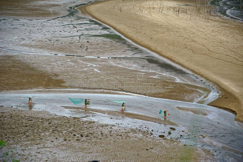 Plażowa grępla - Xiapu sceneria obrazy royalty free