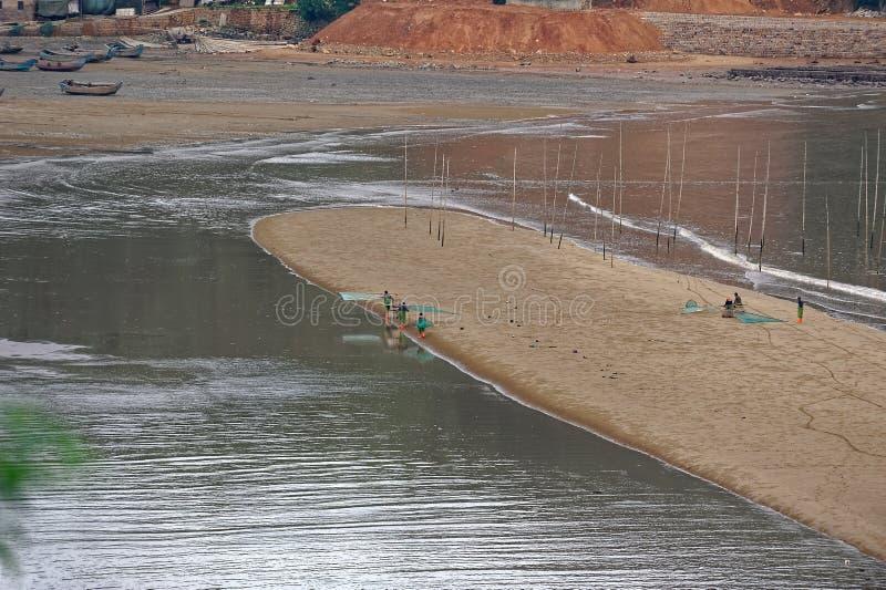 Plażowa grępla - Xiapu sceneria fotografia stock