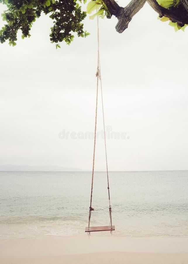 Plażowa huśtawka obraz stock