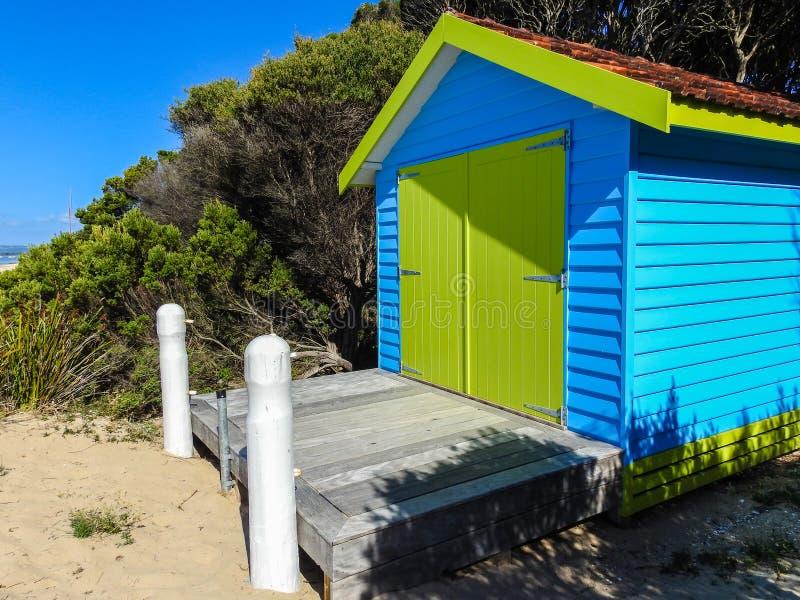 Plażowa kabina zdjęcia royalty free