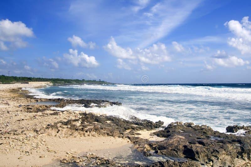 plażowa kajmanu wyspy kipiel zdjęcia stock