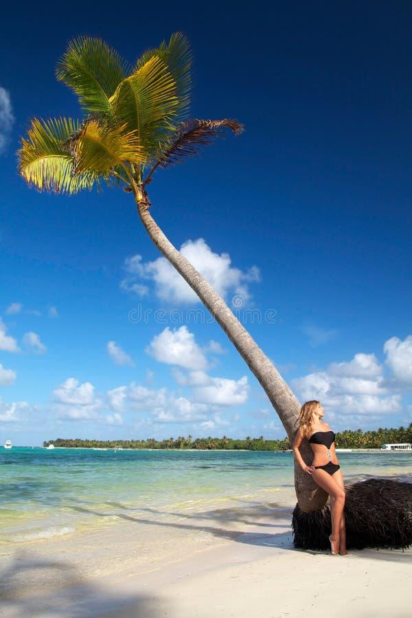 plażowa karaibska seksowna kobieta fotografia stock