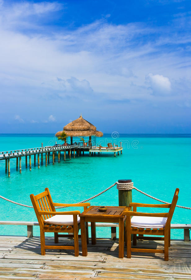 plażowa kawiarnia fotografia royalty free