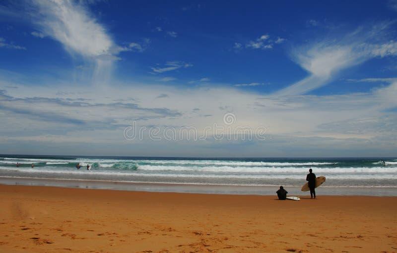 plażowa kipiel fotografia stock