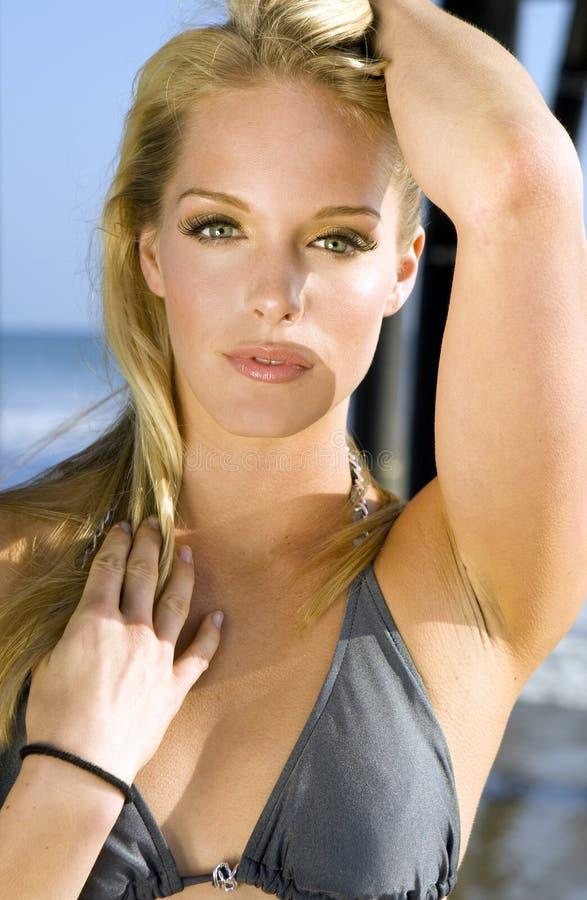 plażowa kobieta obraz stock