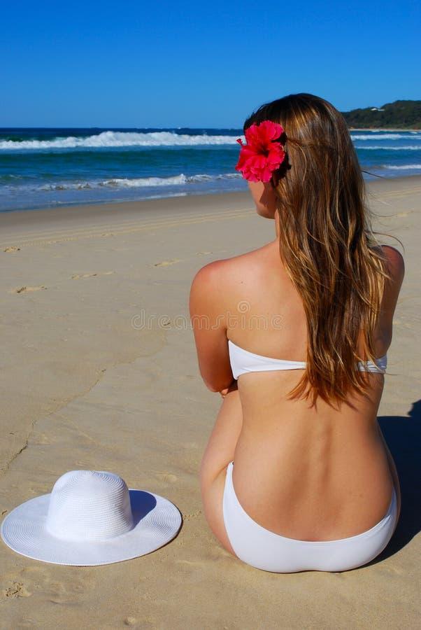 plażowa kobieta fotografia royalty free