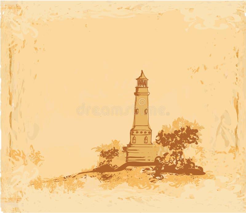 plażowa latarnia morska widzieć malutki royalty ilustracja