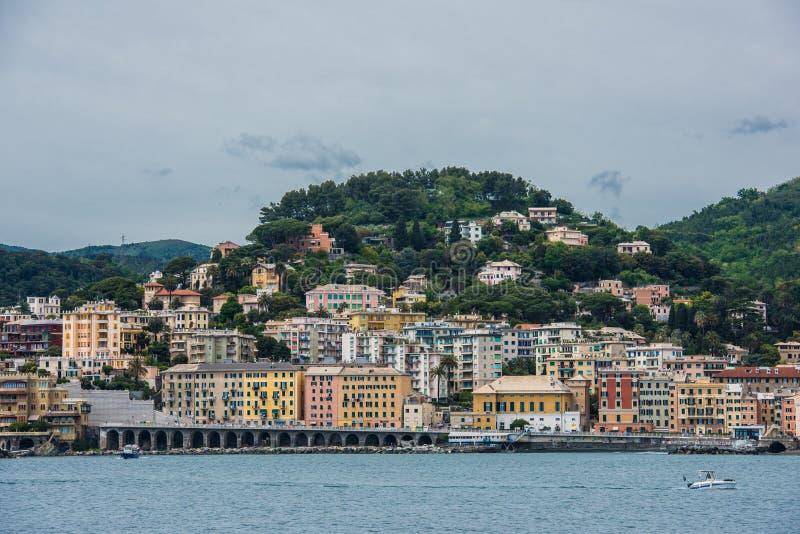 plażowa linia brzegowa Genova zdjęcia stock