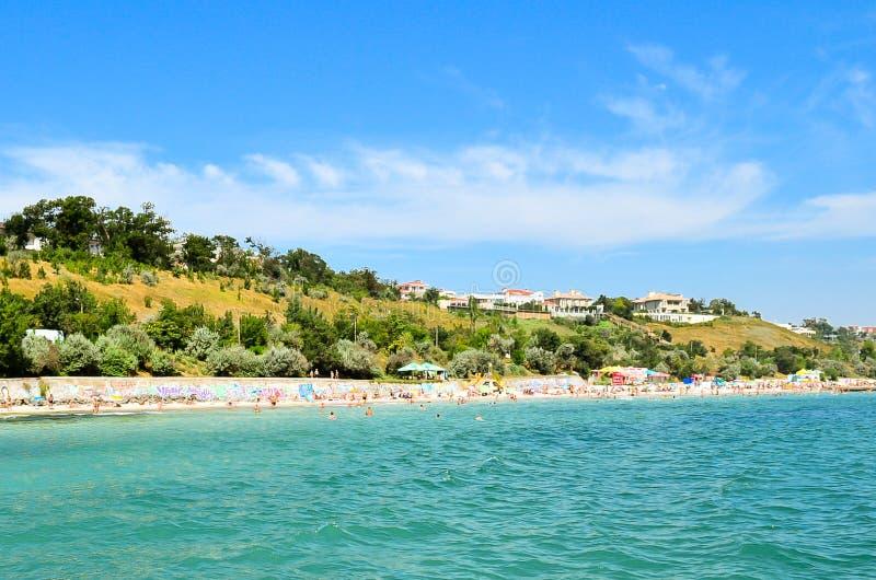 Plażowa linia brzegowa w Odessa zdjęcie royalty free