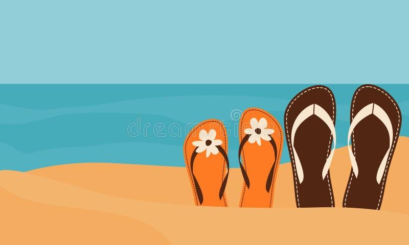plażowa miłość ilustracji