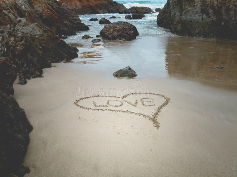 plażowa miłość obraz stock