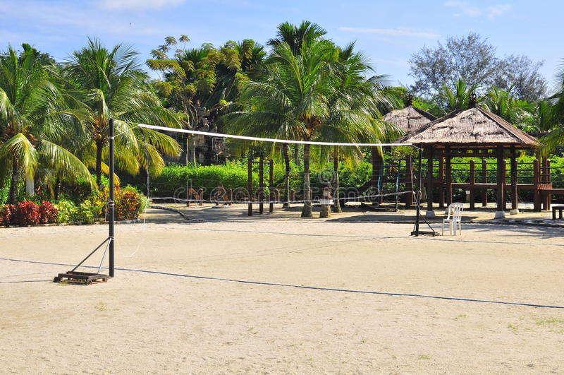 plażowa netto siatkówka zdjęcia stock