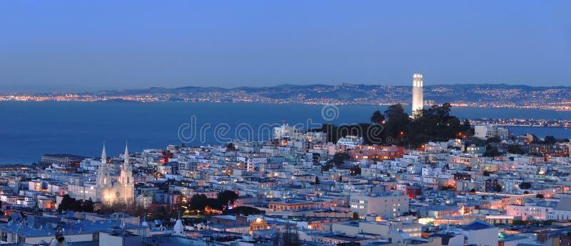 plażowa panorama San Francisco północnej obrazy stock