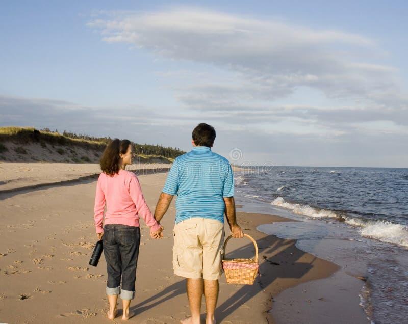plażowa para zdjęcia stock