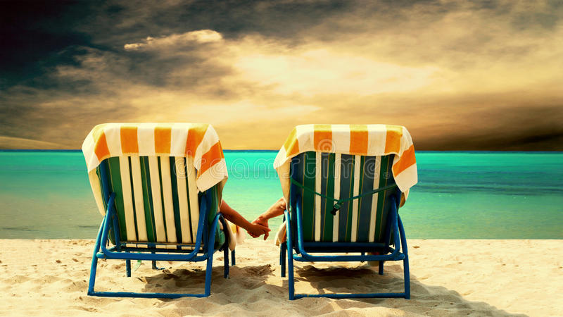plażowa para fotografia royalty free