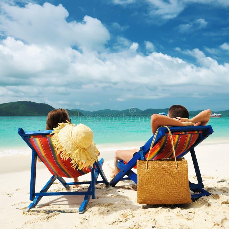 plażowa para obrazy stock