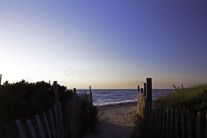 plażowa ' the pathway ' fotografia royalty free