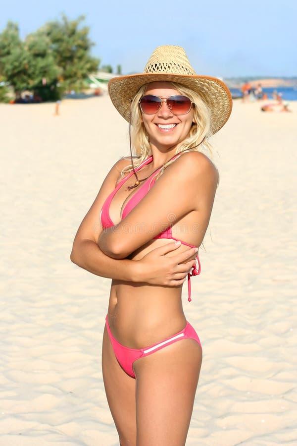 plażowa piękna dziewczyna zdjęcie stock