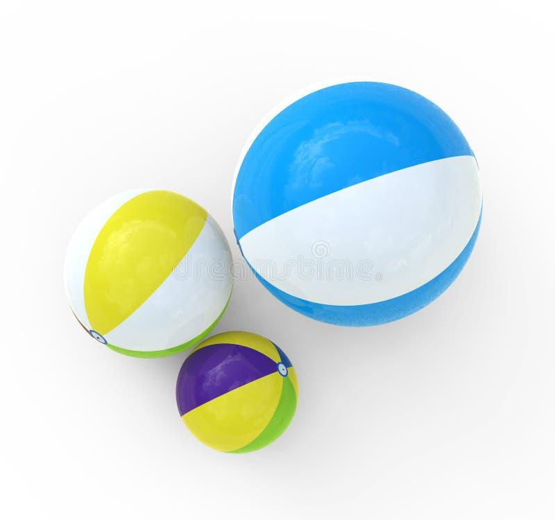 Plażowa piłka ilustracji