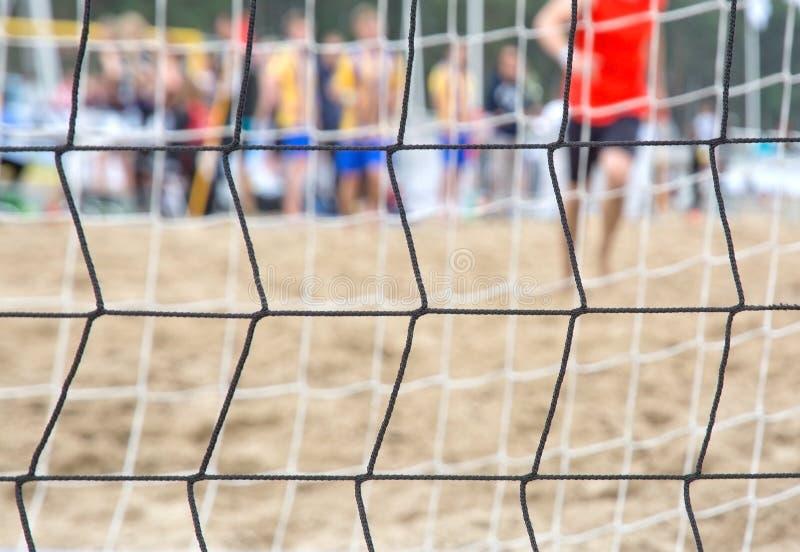 Plażowa piłki nożnej sieć zdjęcia stock
