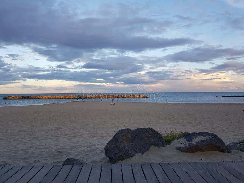 Plażowa prętowa noc zdjęcie royalty free