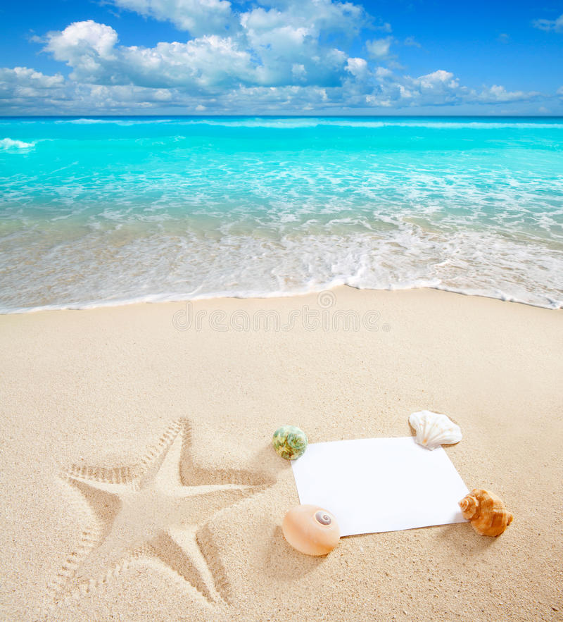 plażowa pusta Caribbean odbitkowa morza przestrzeń fotografia royalty free