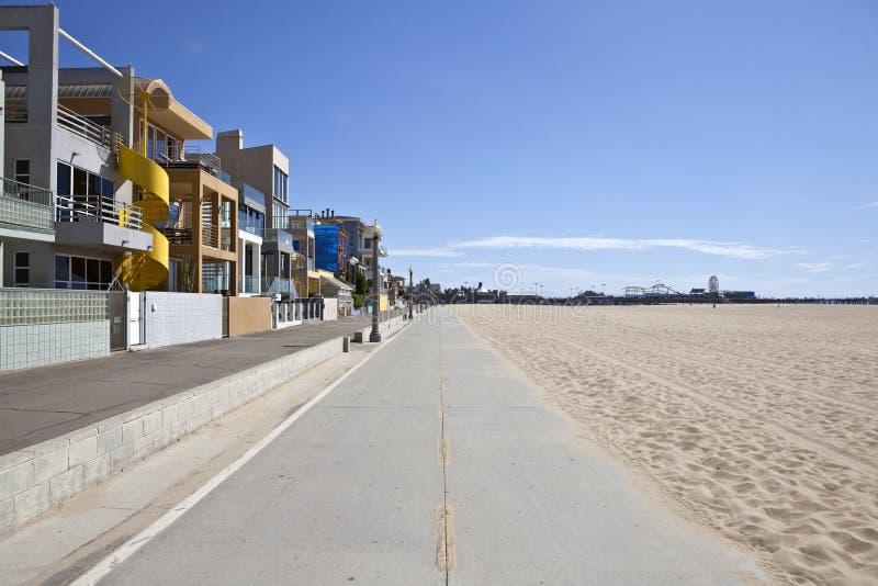 plażowa roweru Monica ścieżka Santa obrazy royalty free