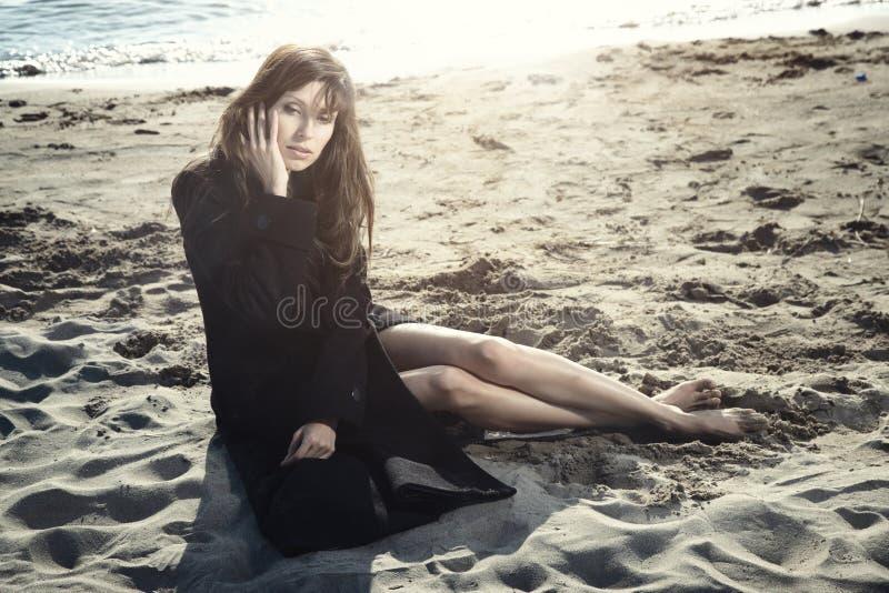 plażowa samotność zdjęcie royalty free