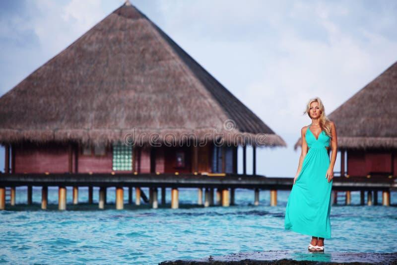 plażowa tropikalna kobieta obrazy royalty free