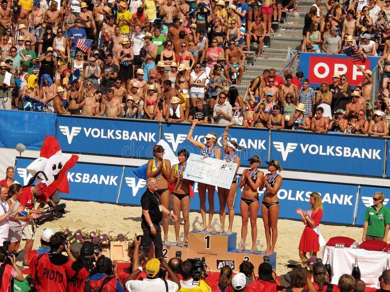 plażowa uroczysta Klagenfurt trzaska siatkówka zdjęcia royalty free