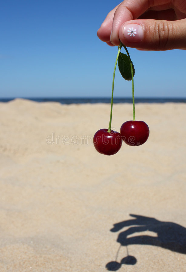 plażowa wiśnia zdjęcie royalty free