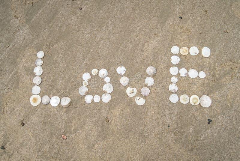 Plażowa wiadomość miłość obrazy royalty free