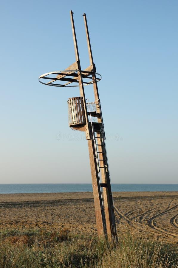 plażowa wieża obserwacyjna zdjęcie stock