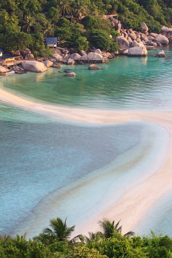 plażowa wyspa nangyuan Thailand fotografia royalty free