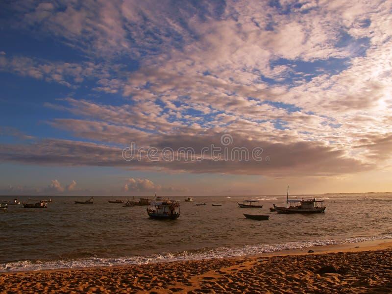 plażowe łodzie obraz royalty free