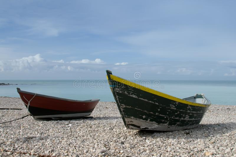 Plażowe łodzie Bezpłatny Obraz Stock