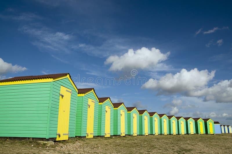 plażowe budy obraz stock