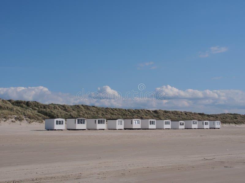 Plażowe budy, Denmark, Europe obraz royalty free