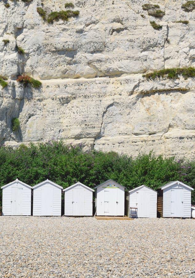 plażowe chaty białe zdjęcia royalty free