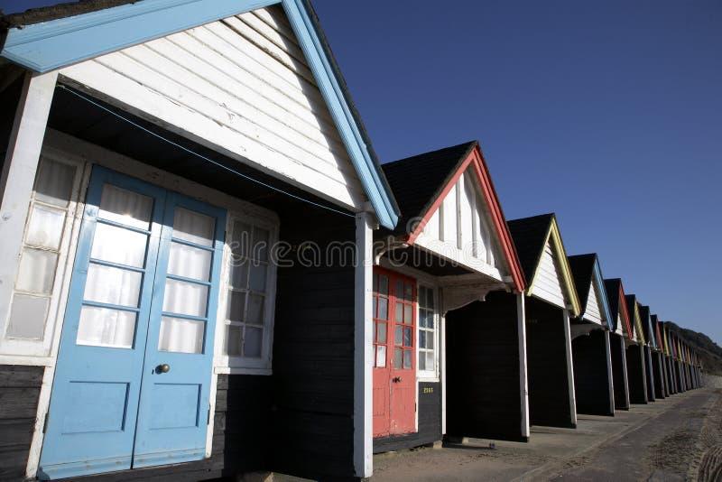 plażowe chaty drewnianych obraz royalty free