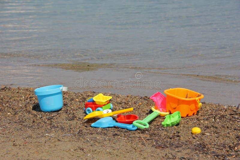 plażowe cichego morza zabawki. zdjęcie royalty free