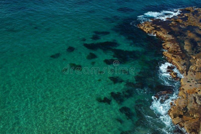 plażowe delikatnych fal fotografia stock